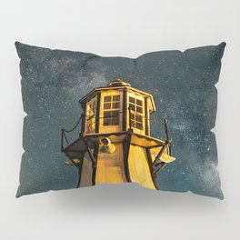 Mountain Light House Two Pillow Sham