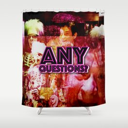 david pumpkins any questions dot jpeg Shower Curtain