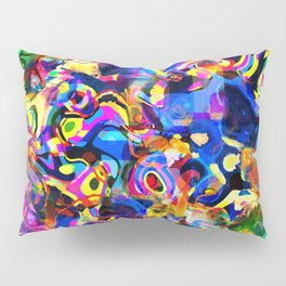 Abstract Mess Pillow Sham