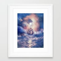 storm Framed Art Prints featuring Perfect storm.  by Viviana Gonzalez
