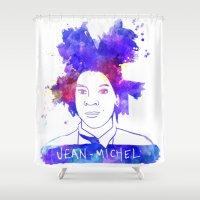 basquiat Shower Curtains featuring jean michel BASQUIAT by BIG Colours