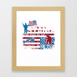 Stand for the Flag Kneel for the Fallen Framed Art Print