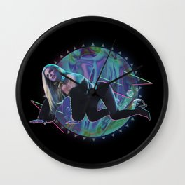 Electric Slumber Party Wall Clock