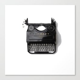 Typewriter (Black and White) Canvas Print