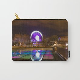 Budapest Eye Ferrish Wheel, Colorful Night Photography, Urban Cityscape Print Carry-All Pouch