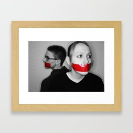 Silence. Jordan and Ryan.  Framed Art Print