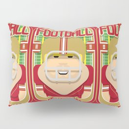 American Football Red and Gold - Enzone Puntfumbler - Sven version Pillow Sham
