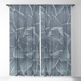 Agave Queen Succulent #1 #tropical #decor #art #society6 Sheer Curtain