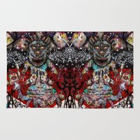 cosmic Area & Throw Rugs featuring Cosmic by PSYCHOREN