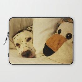 Dalmatian Tiger Nap Laptop Sleeve