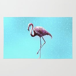 Lone Flamingo Rug