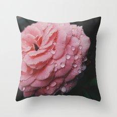 Pink Tears  Throw Pillow
