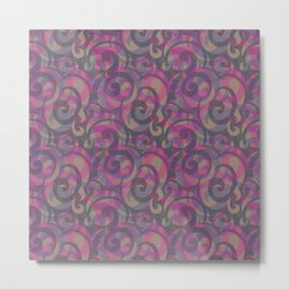 Overlapping patterns with burgundy effect Metal Print