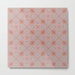 Blush Pink Tile Patten Metal Print
