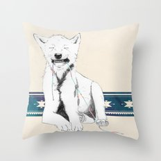 Baby wolf Throw Pillow