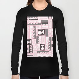 Fishes Seaweeds and Shells - Gray and Pink Long Sleeve T-shirt