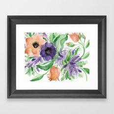 Spring Bouquet - Tulips & Anemones Framed Art Print