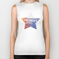 hollywood Biker Tanks featuring Hollywood by Laura Ruth