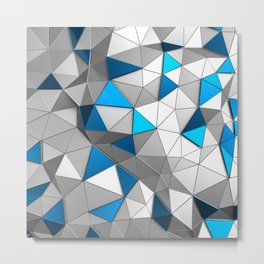 Blue Light Triangle Metal Print