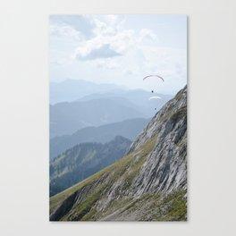 Parasailing over Mount Pilatus Canvas Print