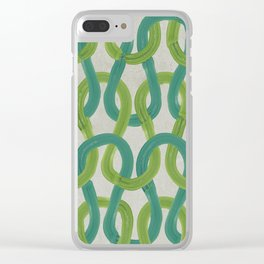 KNIT WIT LEAF with Concrete backround Clear iPhone Case