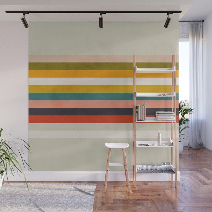 modern abstract stripe geometric Wall Mural