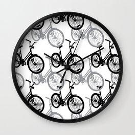 Bicycles Gray Wall Clock