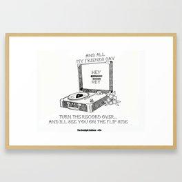 Turn the record over... The Gaslight Anthem Framed Art Print