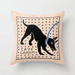 Cave Canem Throw Pillow