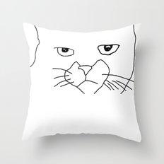 oh hai cat face Throw Pillow