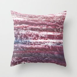 Red violet marble abstract watercolor Throw Pillow