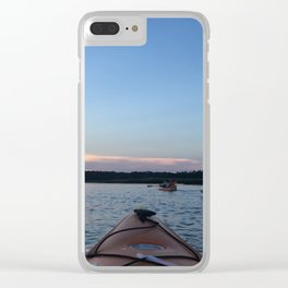 Sunset Kayaking - Color Photograph Clear iPhone Case