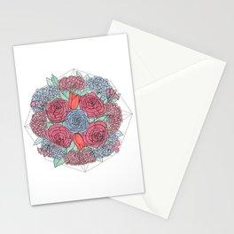 Dark Flowers Stationery Cards