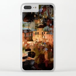 Cinque Terre Clear iPhone Case