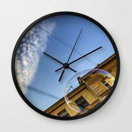 Soap bubble in the sky Wall Clock