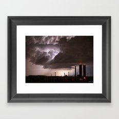 Industrial Spark Framed Art Print