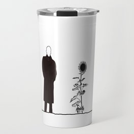 The man and the Sunflower Travel Mug