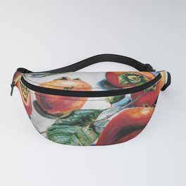 Watercolor Persimmons With Leaves Fanny Pack