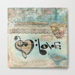 love note Metal Print