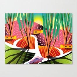 Sunset Curve Canvas Print