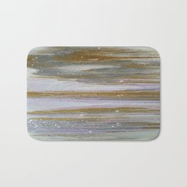 Gold and Silver Deluge Bath Mat