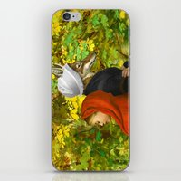 red hood iPhone & iPod Skins featuring Red Riding Hood by Diogo Verissimo