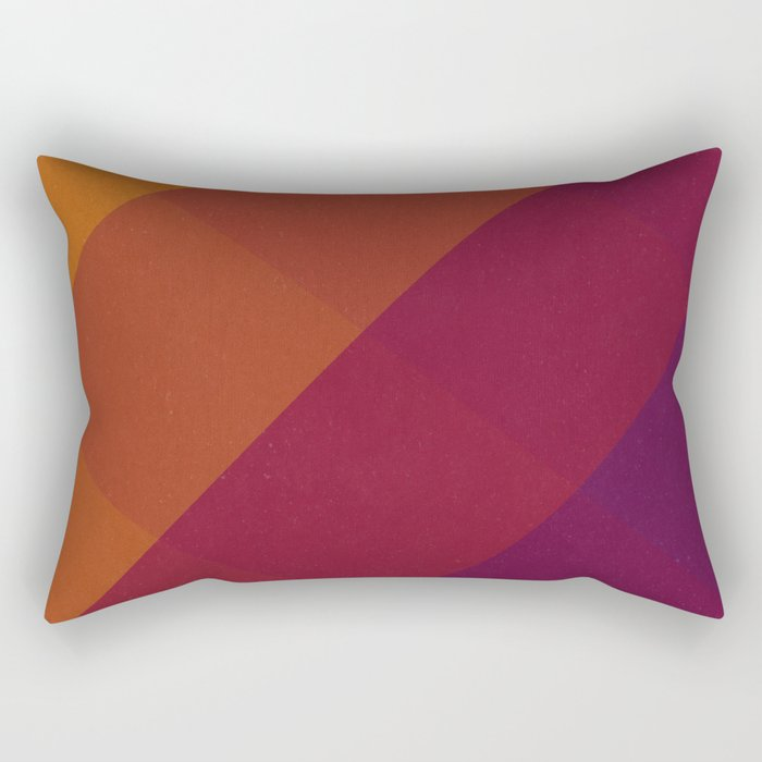 Square Abstract Gradient Art Rectangular Pillow