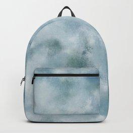 Blue dark green batic look Backpack