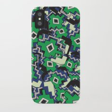 African Geometric Motifs Pattern iPhone X Slim Case