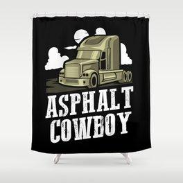 Asphalt Cowboy | Trucker Shower Curtain