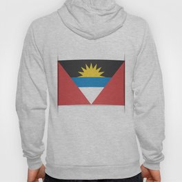 Flag of Antigua and Barbuda.  The slit in the paper with shadows.  Hoody