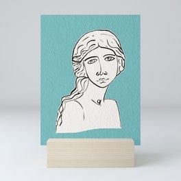 The little mermaid statue Mini Art Print