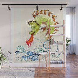 A happy dragon Wall Mural