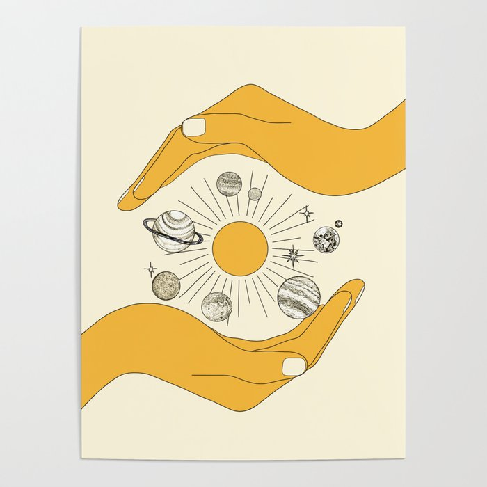 The Universe in Your Hands Poster